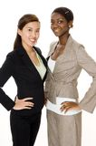 Business Women. Two young business women on white background Stock Photo