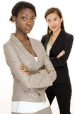 Business Women. Two attractive young businesswomen on white background Royalty Free Stock Photos
