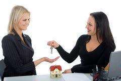 Business women advertises real estat Stock Image
