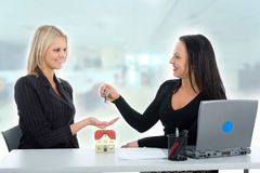 Business women advertises real estat Stock Images