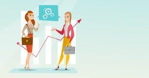 Business women analyzing financial data. Royalty Free Stock Photos