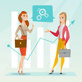 Business women analyzing financial data. Royalty Free Stock Images