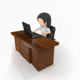 Business. Women behind desk with coffee Stock Photo