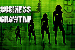 Business women and business growth. Digital illustration of business women and business growth Stock Photography
