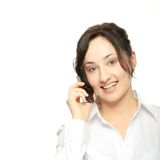 Business women calling by cellular phone Royalty Free Stock Image