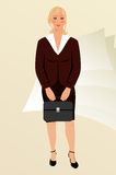 Business women with case isolated Royalty Free Stock Image