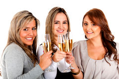 Business women celebrating Royalty Free Stock Photos