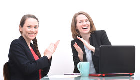 Business women clapping and celebrating Stock Photography