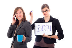 Business women colleagues competing Stock Image