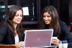 Business women with computer Stock Images
