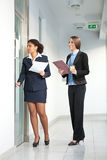 Business women in corridor Stock Photography