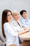 Business women discuss business strategy Stock Photos