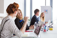 Business women discussing project Royalty Free Stock Image
