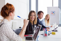 Business women discussing project during the meeting Royalty Free Stock Photos