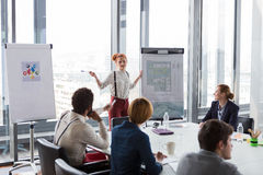 Business women discussing project during the meeting Royalty Free Stock Images
