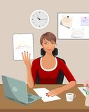 Business women with documents Royalty Free Stock Photo