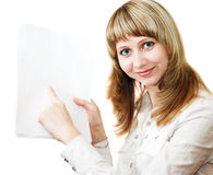 Business women with documents Stock Photos