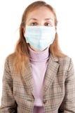 Business-women en máscara protectora Fotografía de archivo libre de regalías