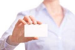 Business women handing a business card Stock Photography