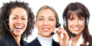 Business women with headset Royalty Free Stock Image