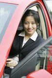 Business women with her car stock image