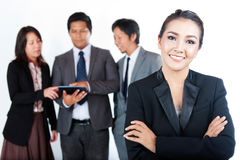 Business women with her team Stock Image