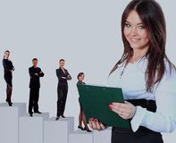 Business woman and her team. Business women and her team Royalty Free Stock Images