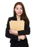 Business Women holding file Stock Photos