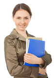 Business women holds documents. Royalty Free Stock Images