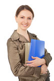 Business women holds documents. Royalty Free Stock Photo