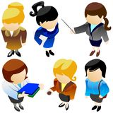 Business women icons set. Royalty Free Stock Images