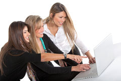 Business women with laptop Royalty Free Stock Photography
