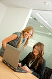 Business women on a laptop Stock Photo