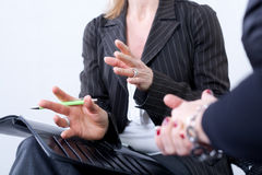 Business women in meeting Stock Photo