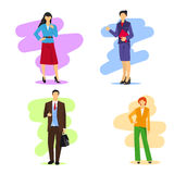 Business women and men Royalty Free Stock Photos