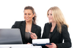 Business women in office Royalty Free Stock Photos