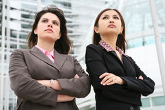Business Women at Office. Young Pretty business women at office company stock photography