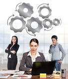Business women in the office Royalty Free Stock Images