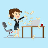 Business women overjoy about project success. Royalty Free Stock Images