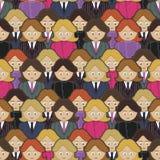 Business women pattern Stock Photo