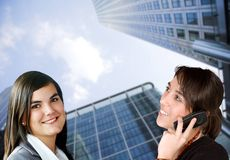 Business women on the phone Royalty Free Stock Photo