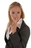 Business women quiet Royalty Free Stock Image