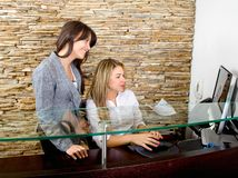 Business women at the reception Royalty Free Stock Photos