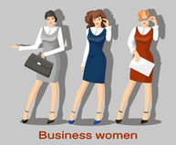 Business women set Royalty Free Stock Image