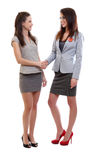 Business women shaking hands Royalty Free Stock Images