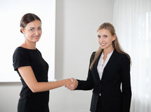 Business women shaking hands making a deal Stock Image