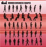 Business women shapes vector Stock Photography