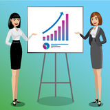 Business women showing graphics Stock Photography