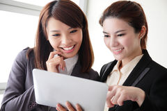 Business women smile conversation Stock Image