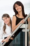 Business women smiling Stock Photo
